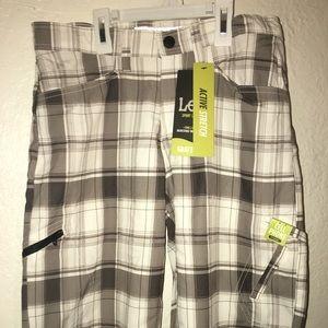 NWT Lee Sports Grafton Plaid Shorts Boys sz 14